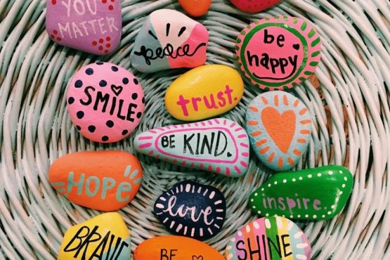 Fun thing to do with your kid: craft Word Rocks